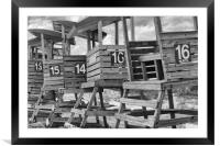 Life Guard Chairs, Framed Mounted Print