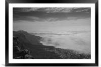 Looking down on Camp's Bay from Table Mountain, Framed Mounted Print