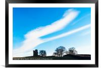 Clouds over Greenhalgh Castle, Framed Mounted Print