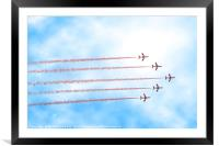 Red Arrows at RIAT, UK, Framed Mounted Print
