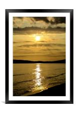 Compton sunset, Framed Mounted Print