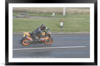 Motorbike On The Borders, Framed Mounted Print