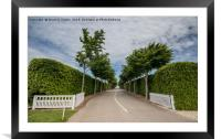 Goodwood Race Circuit, Framed Mounted Print