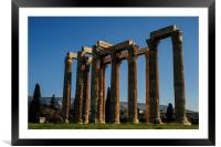 Temple of Olympian Zeus in Winter Sun, Framed Mounted Print