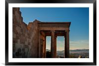 North Porch of the Erechtheion, Framed Mounted Print