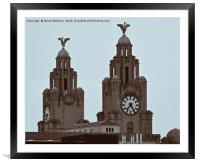 The Liver Birds of Liverpool, Framed Mounted Print