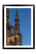 Scott Monument Right Corner, Framed Mounted Print