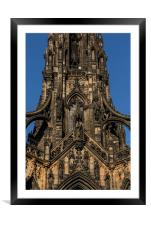 Scott Monument Central Close, Framed Mounted Print