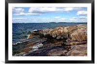 Rocky Point Wreck Island, Framed Mounted Print