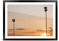 Sunset at the raceway, Framed Mounted Print