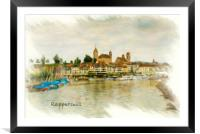 Rapperswil Cityscape, Framed Mounted Print