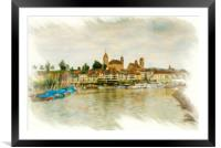 Rapperswil Cityscape 2, Framed Mounted Print