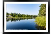The Still Lake, Framed Mounted Print