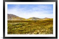 THE MOUNTAINS AT GLENCOE, Framed Mounted Print