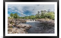 River Tees Horseshoe Falls above Low Force, Framed Mounted Print