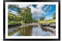 The River Greta at East Mellwaters 2, Framed Mounted Print