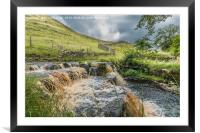 Ettersgill Beck Waterfall in Spate 1, Framed Mounted Print
