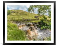 Ettersgill Beck Waterfall in Spate 2, Framed Mounted Print