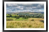 North over Laithkirk, Teesdale, Framed Mounted Print