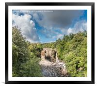 High Force Waterfall Teesdale in Spate, Panorama, Framed Mounted Print
