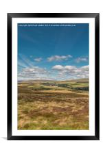 Forest in Teesdale from Holwick Fell 2, Framed Mounted Print