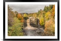 Autumn at High Force Waterfall, Teesdale, Framed Mounted Print