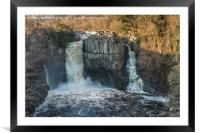 Winter Sun on High Force Waterfall, Teesdale, Framed Mounted Print