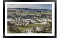 Mickleton, Teesdale from Whistle Crag in Winter, Framed Mounted Print