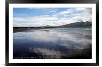Mirror beach in Ireland, Framed Mounted Print