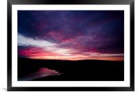 Sunset across the Peak District, Framed Mounted Print