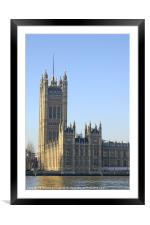 Victoria Tower, Framed Mounted Print