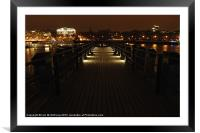 Pier on The Thames at Night, Framed Mounted Print