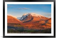 The North Face of Ben Nevis, Framed Mounted Print