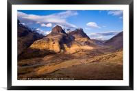 The Three Sisters of Glencoe, Scotland, Framed Mounted Print