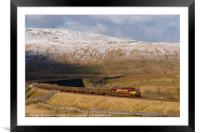 66117 at Ribblehead - Yorkshire Dales , Framed Mounted Print