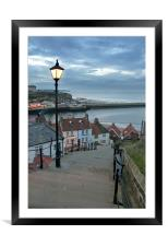 Whitby Steps, Framed Mounted Print