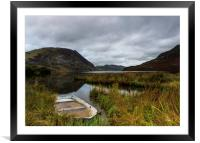 Abandoned boat on Crummock Water, Framed Mounted Print