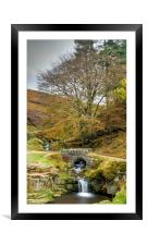 Three shires head Derbyshire, Framed Mounted Print