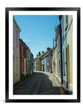 The historic town of Appledore in North Devon, Framed Mounted Print