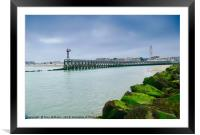 Pier View., Framed Mounted Print