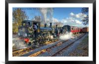 steam train double head at Avon Valley, Framed Mounted Print