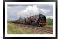 Trackside with 6233 Duchess of Sutherland steaming, Framed Mounted Print