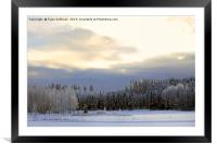 Coldest Day in Winter , Framed Mounted Print