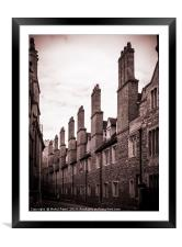 Chimney stacks and ornate gable ended dormers, Framed Mounted Print