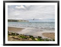 Fishing boats at Swanage, Framed Mounted Print