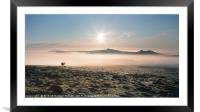View from Top Tor to Haytor at Sunrise, Framed Mounted Print