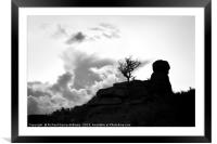 Chinkwell Tor Silhouette, Framed Mounted Print