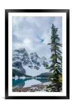 Moraine Lake, Banff National Park, Framed Mounted Print