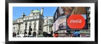 Piccadilly Circus of London, Framed Mounted Print