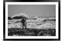 Getting The Shot, Framed Mounted Print